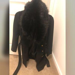 Guess Jem Faux Fur Wrap Coat!